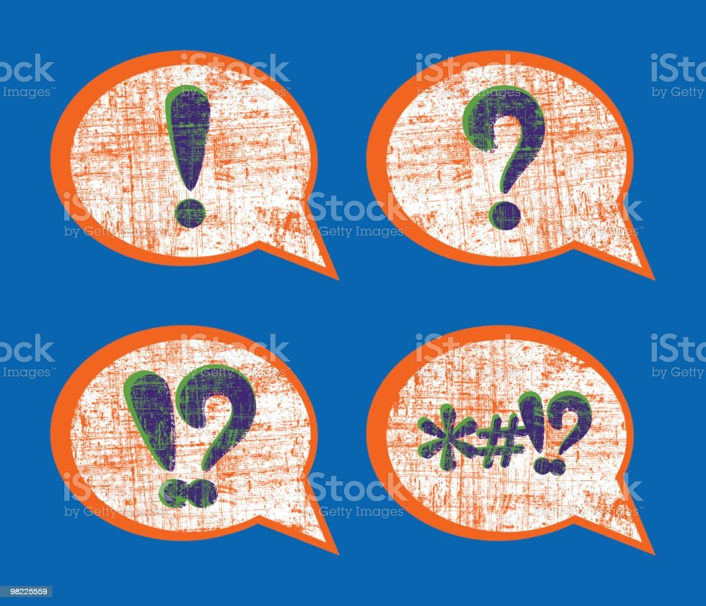 Grunge Speech Bubbles royalty-free grunge speech bubbles stock vector art & more images of asterisk