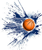 drawing of vector speed basketball backround.