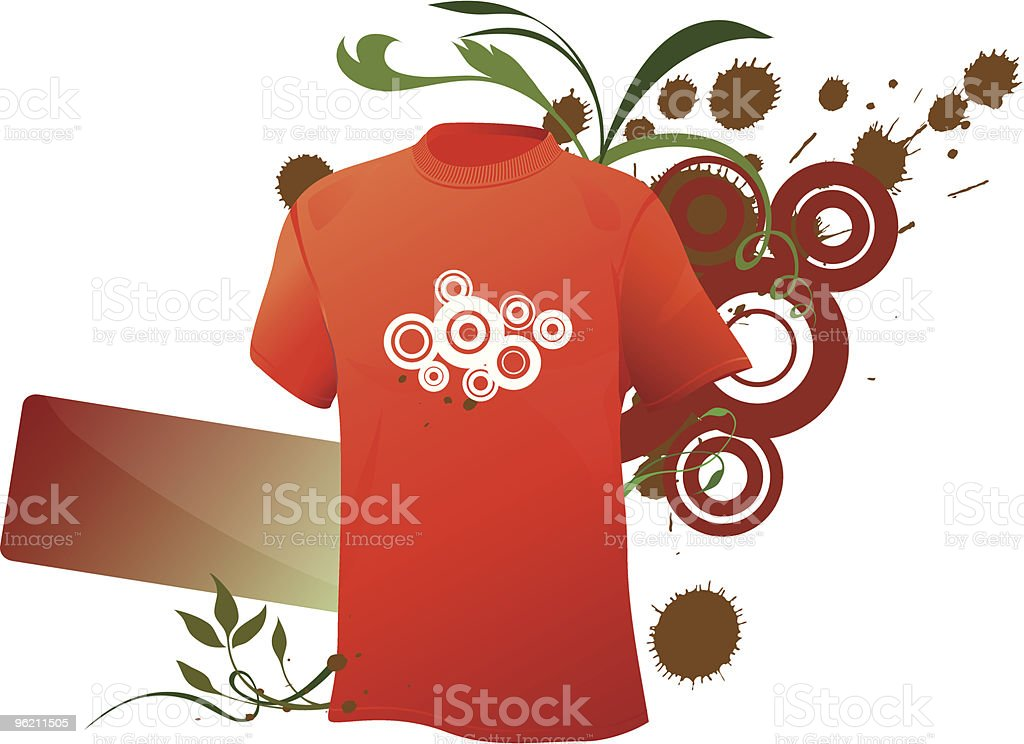 Grunge sport shirt royalty-free stock vector art