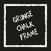 Grunge square hand painted with chalk crayon