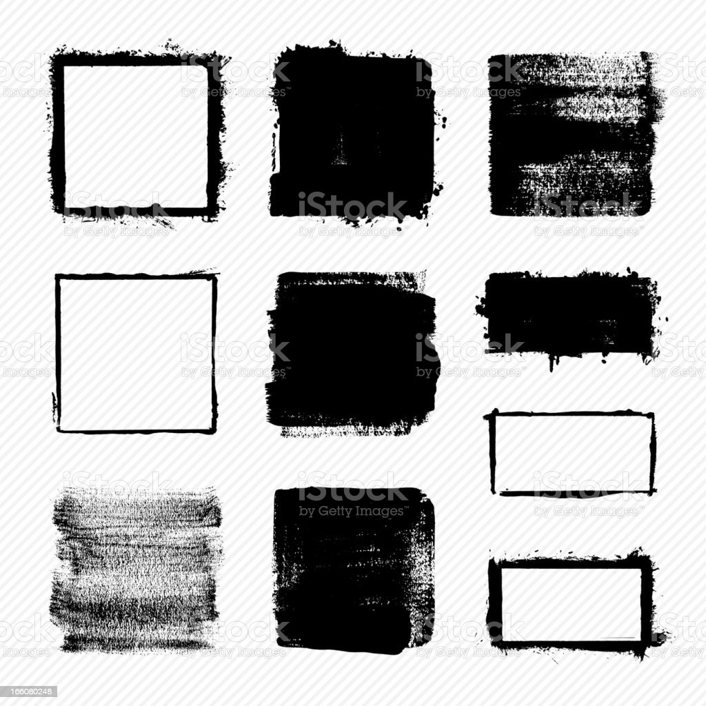 Grunge squares vector art illustration