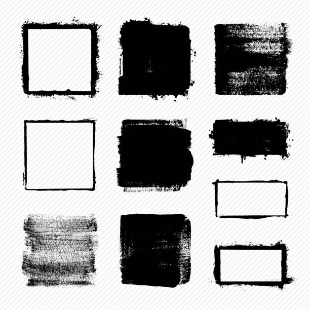 grunge squares - pürüzlü stock illustrations