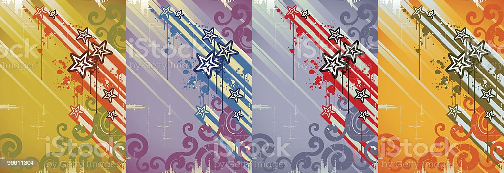 grunge star background - Royalty-free Abstract stock vector