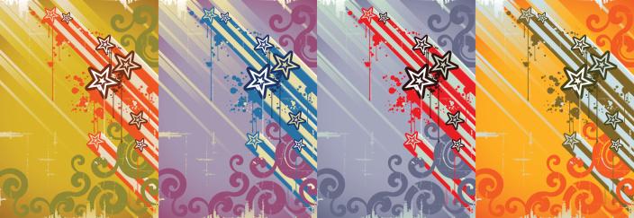 Grunge Star Background Stockvectorkunst en meer beelden van Abstract
