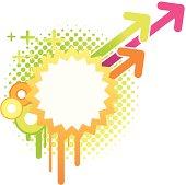 Vector illustration of funky grunge image. See my portfolio for similar illustrations.