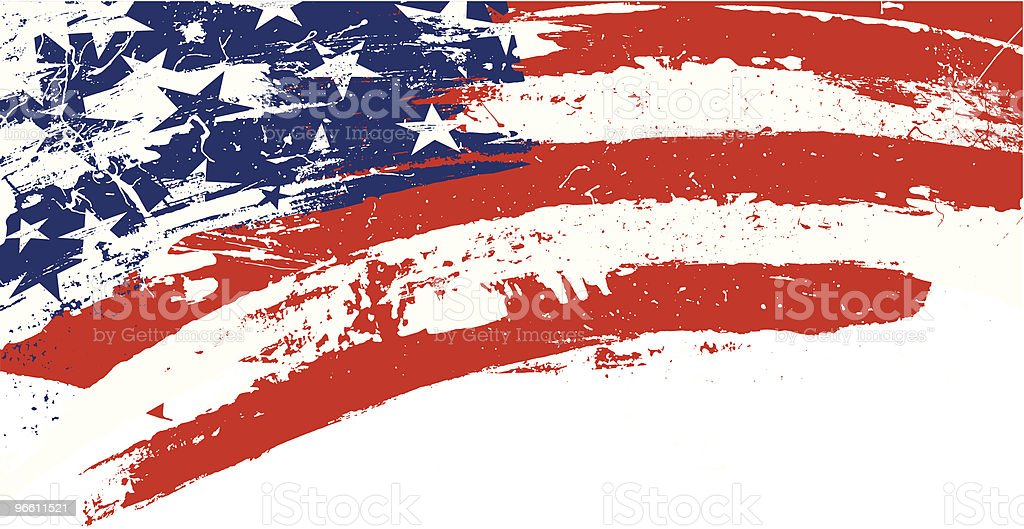 grunge stars and stripes - Royaltyfri Amerika vektorgrafik