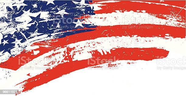 Grunge Estrelas E Riscas - Arte vetorial de stock e mais imagens de 4 de Julho
