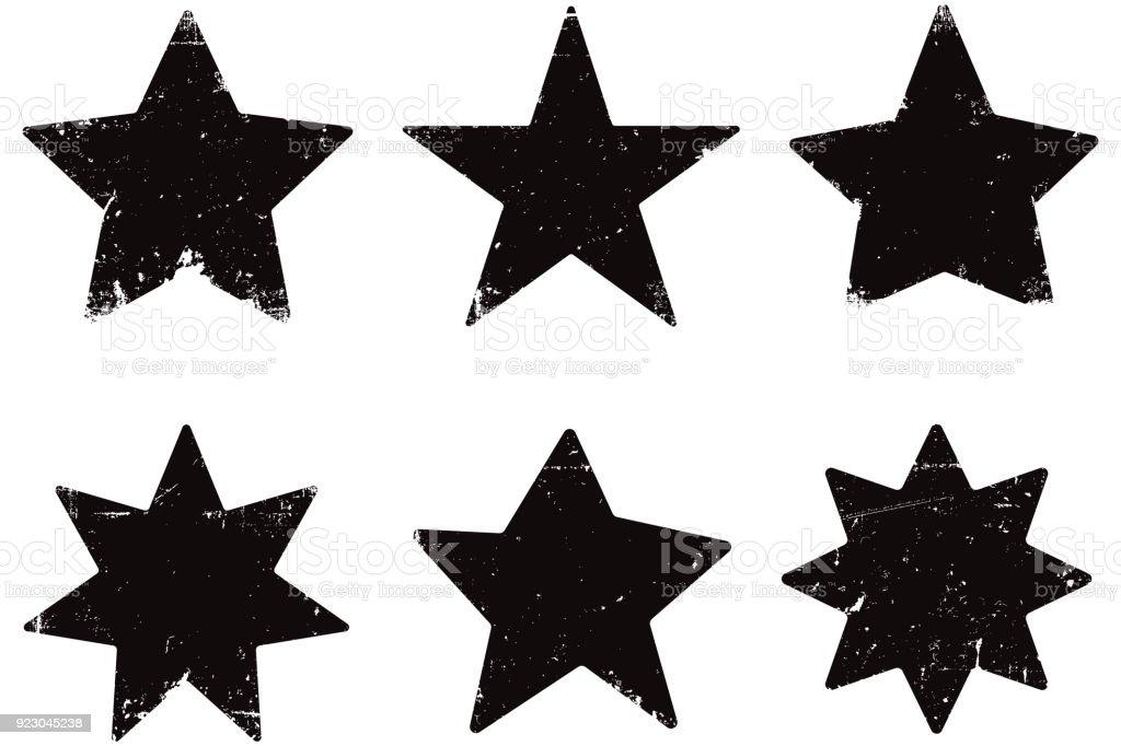 Grunge stars vector art illustration