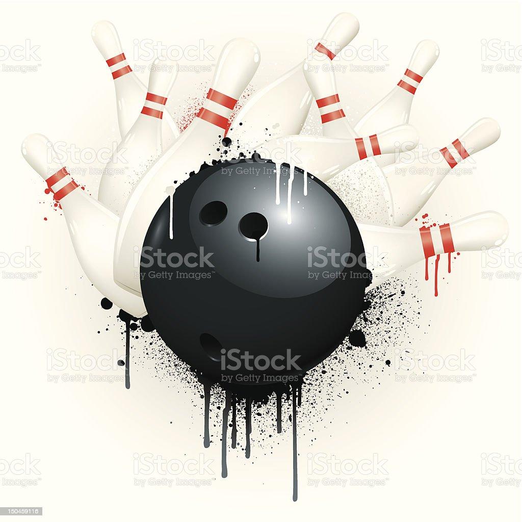 Grunge strike vector art illustration