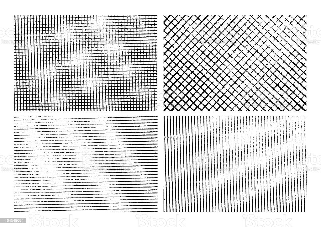 Grunge stripe texture backgrounds set vector art illustration