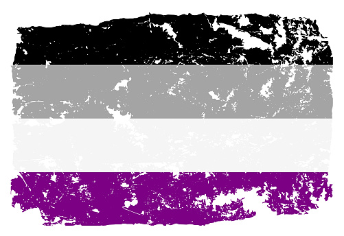 Grunge styled Asexual pride flag