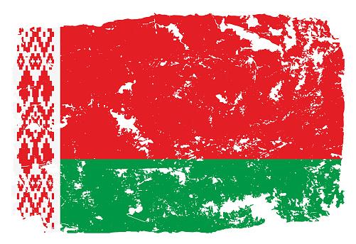 Grunge styled flag of Belarus