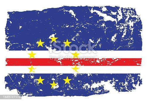 istock Grunge styled flag of Cape Verde 1333741178