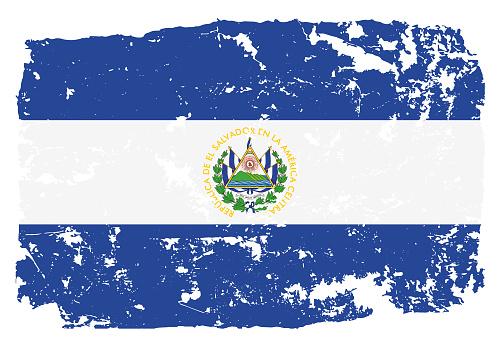 Grunge styled flag of El Salvador