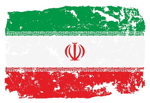 Grunge styled flag of Iran