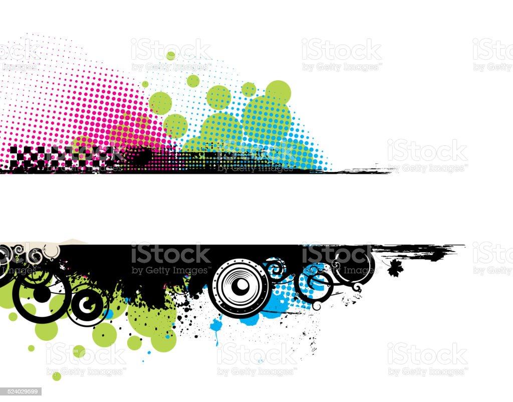Grunge stylish banners vector art illustration