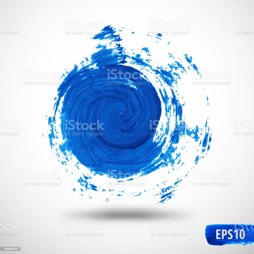 Grunge Swirl. Watercolor Abstract Background vector art illustration