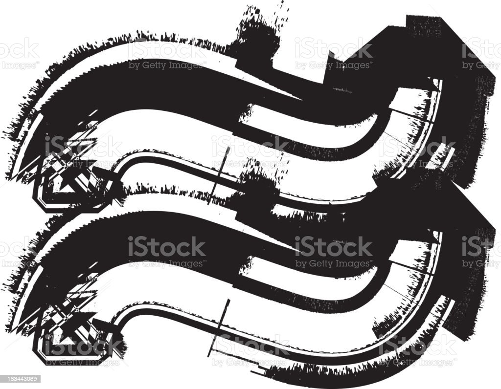 Grunge Symbol royalty-free grunge symbol stock vector art & more images of alphabet