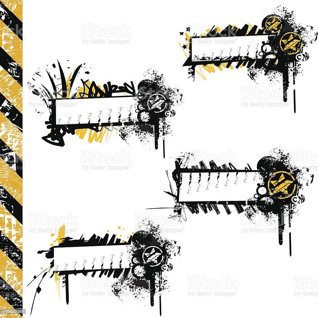 Grunge tags IX royalty-free stock vector art