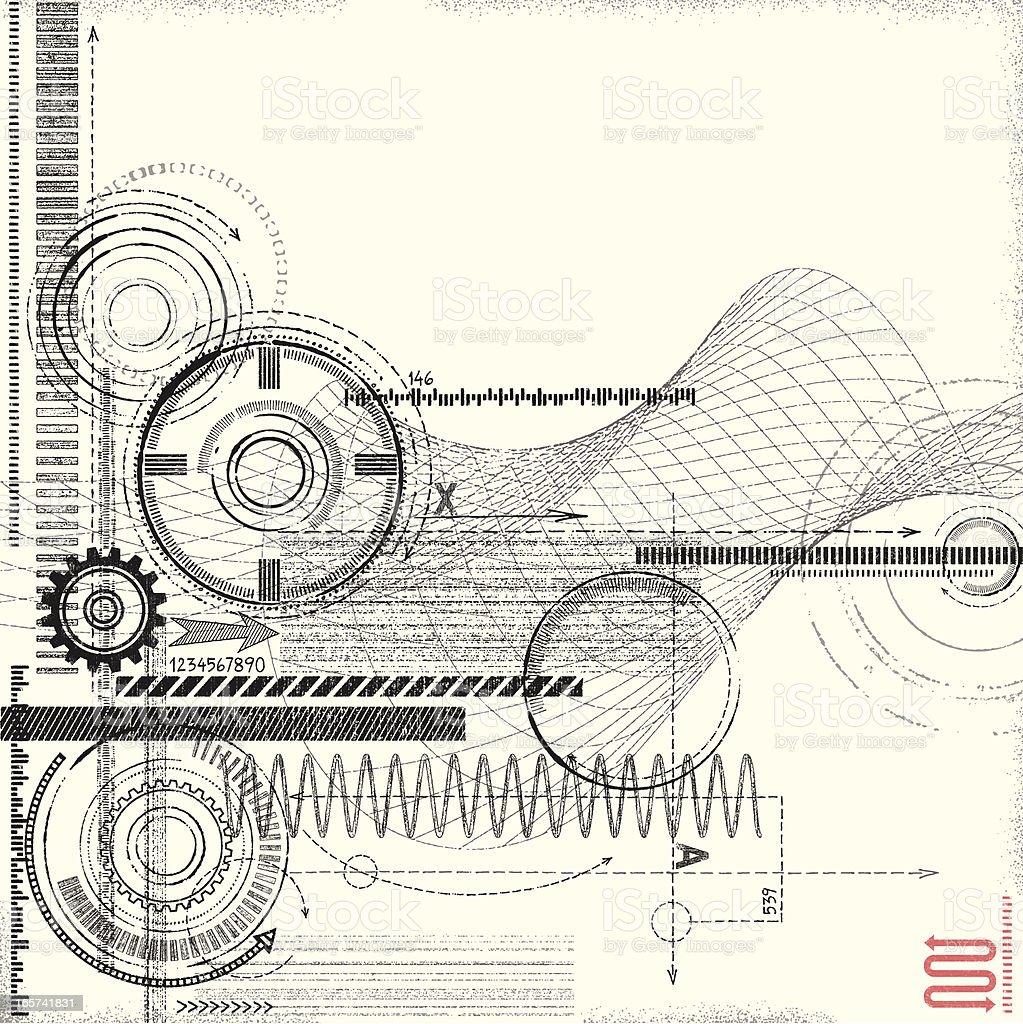 Grunge dessin technique - Illustration vectorielle