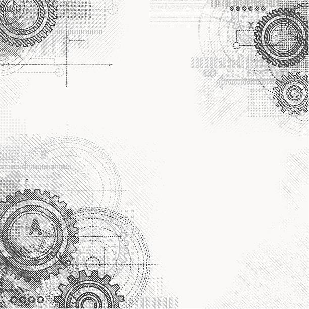 stockillustraties, clipart, cartoons en iconen met grunge technical drawing - uitvinding