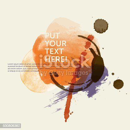 istock Grunge template: Water color n°3 (Stains) 530806362