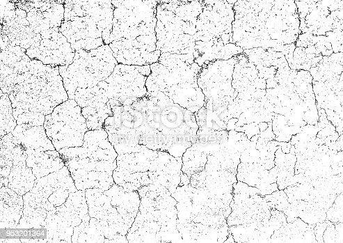Rectangle grunge texture background with space for image or text. One color - black. Cracks on the damaged stone wall.