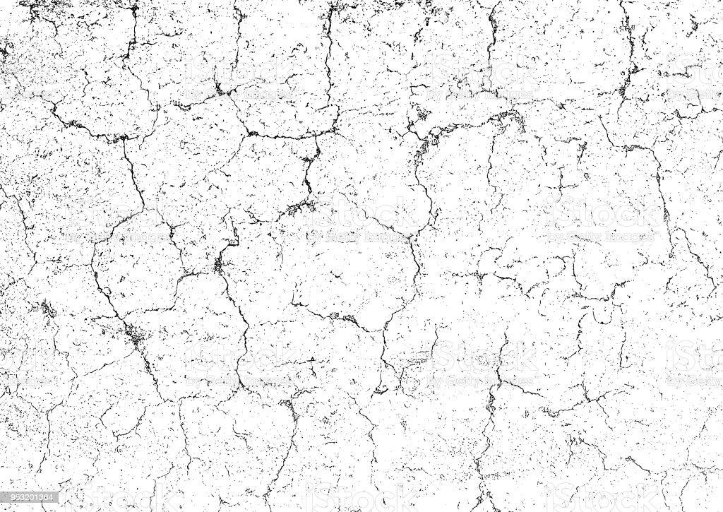 Grunge texture background. Cracks on the damaged stone wall. Rectangle backdrop vector art illustration