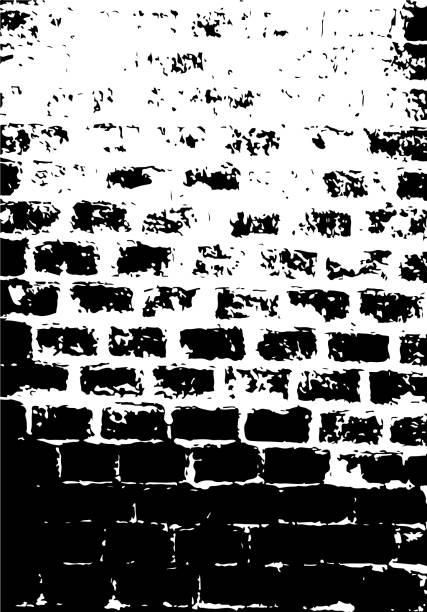 Grunge texture of old brick wall. Distressed overlay illustration. vector art illustration