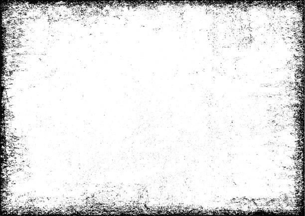 그런 지 질감된 프레임 - 빛바랜 stock illustrations