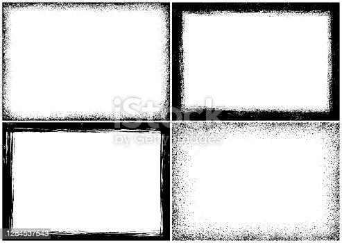 istock Grunge textured frames 1284537543