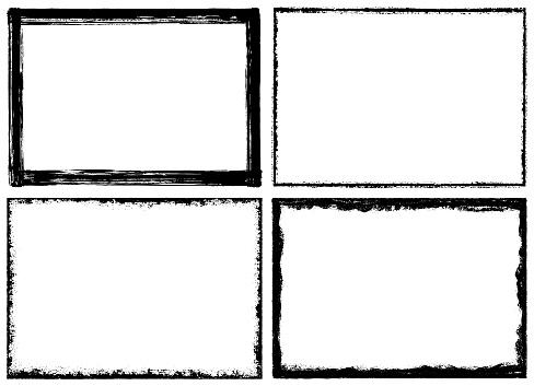 Grunge textured frames