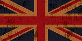 Grunge Textured Union Jack Flag