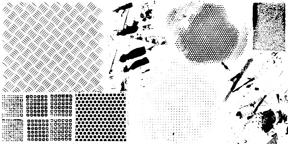 Grunge textures and patterns vector