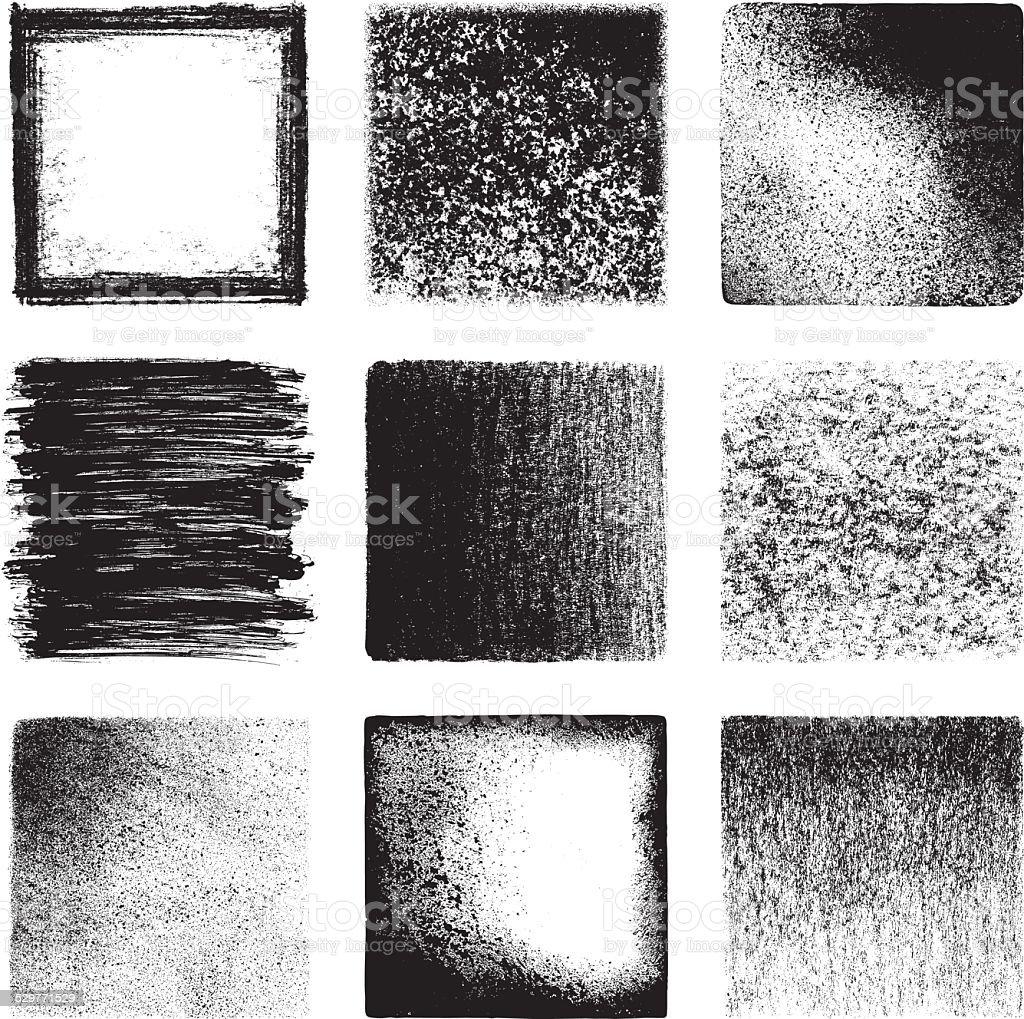 Grunge textures vector art illustration