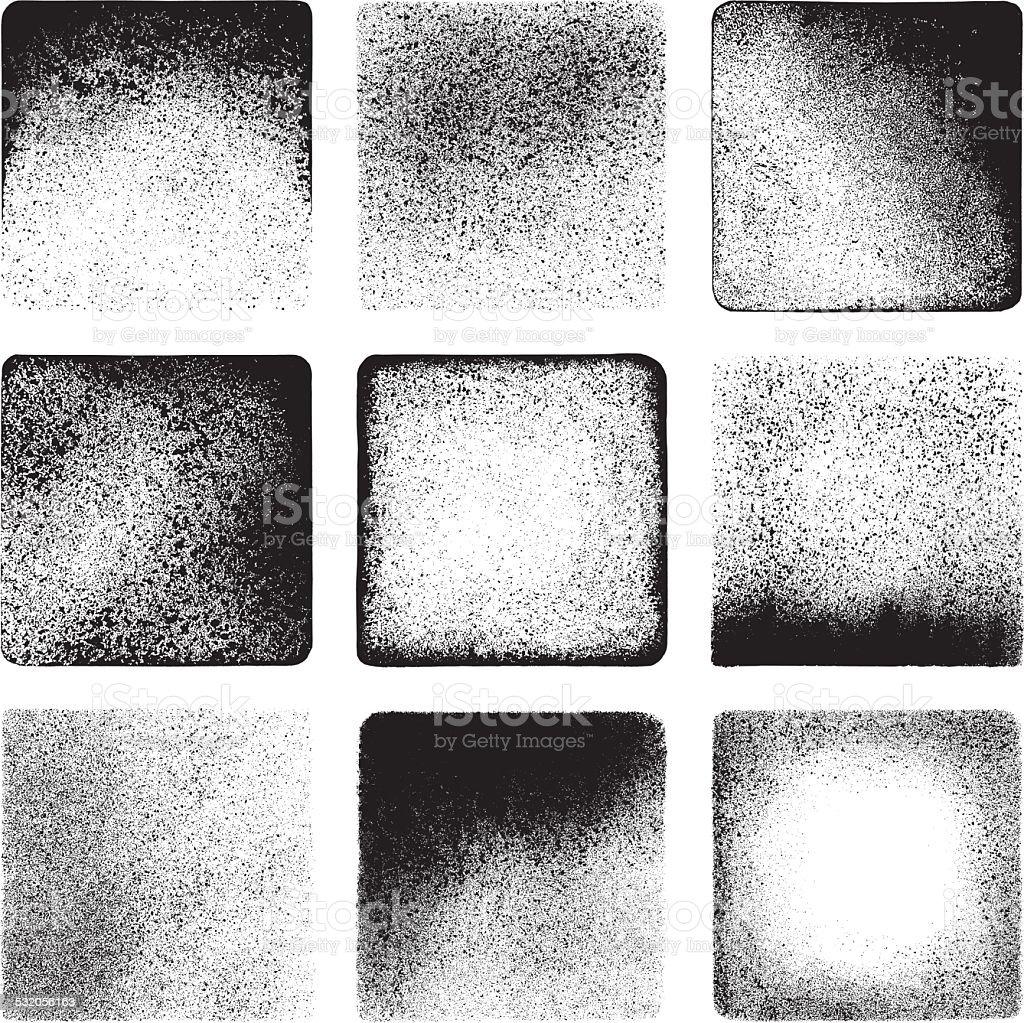 Las texturas sucias - ilustración de arte vectorial
