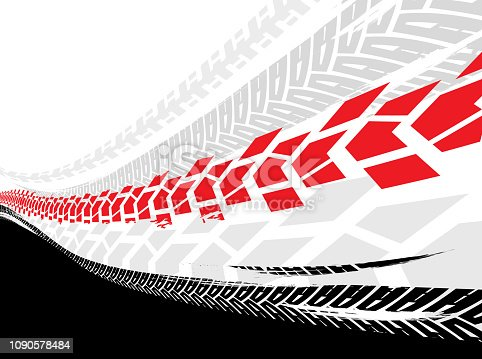 istock Grunge Tire Background 1090578484