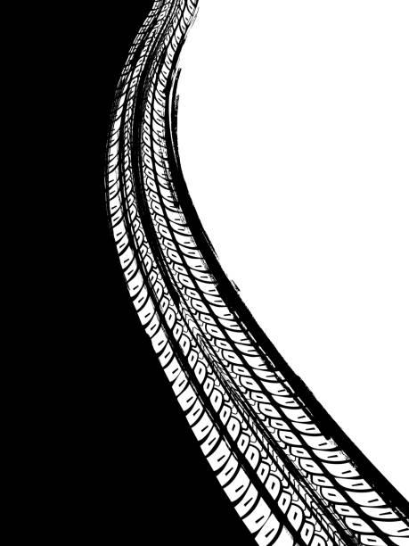 illustrazioni stock, clip art, cartoni animati e icone di tendenza di grunge tire background - transport truck tyres