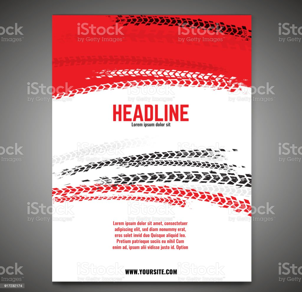 Grunge Tire Poster vector art illustration