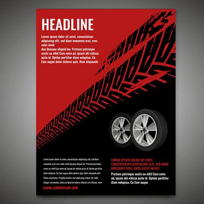 Grunge Tire Poster