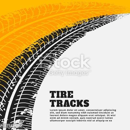grunge tire track print marks background