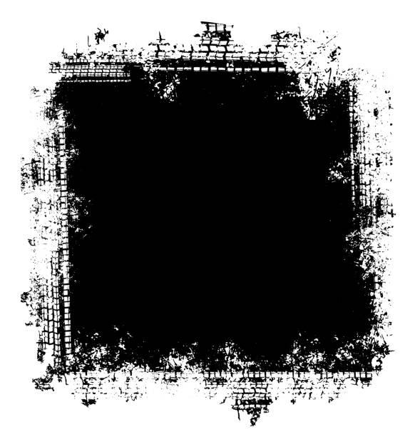 grunge tire tracks frame background - grunge frames stock illustrations