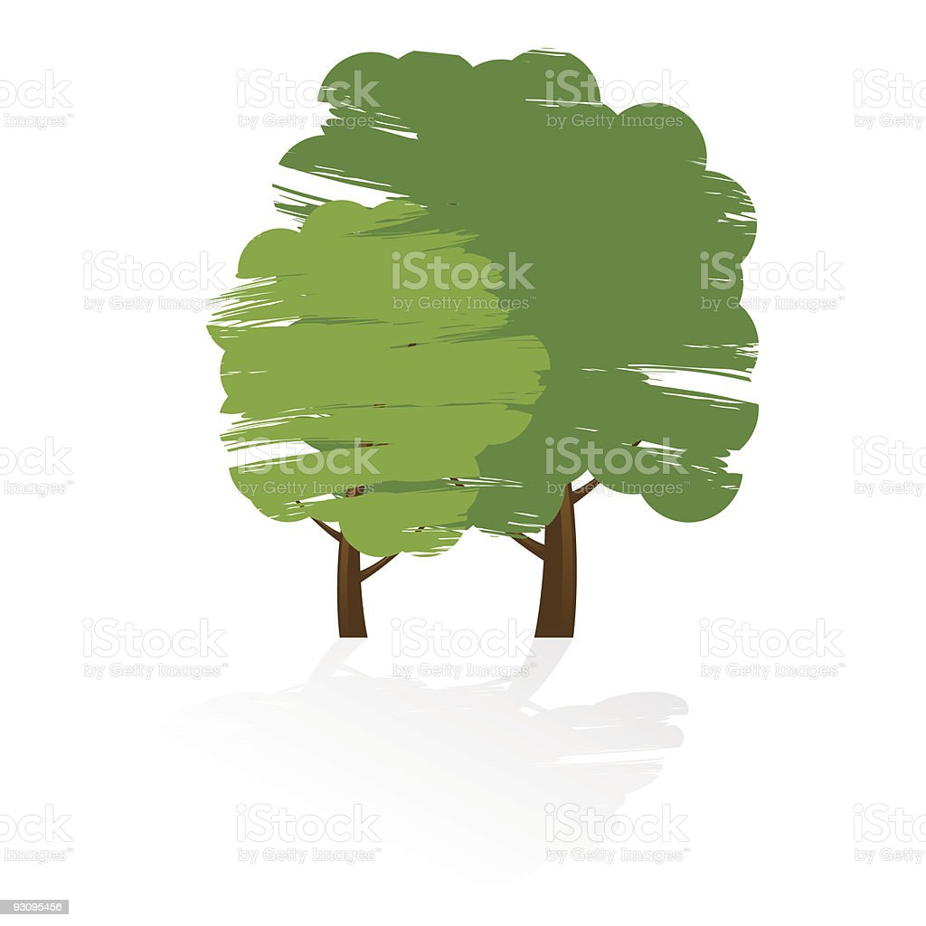 Grunge tree icon royalty-free grunge tree icon stock vector art & more images of abstract