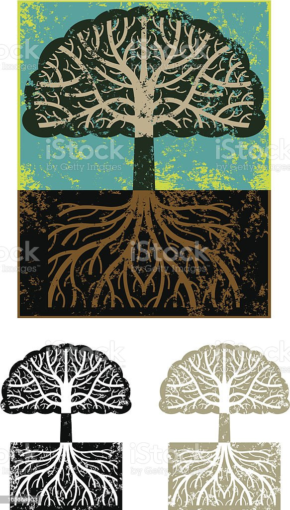 Grunge tree symbol royalty-free stock vector art