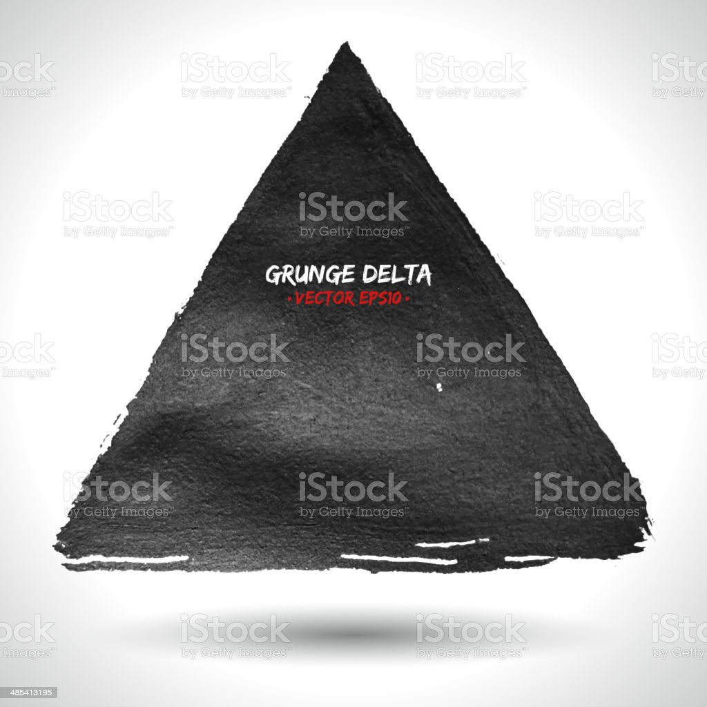 Grunge triangle vector background royalty-free stock vector art