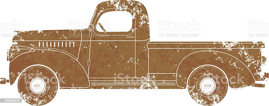 Grunge truck vector art illustration