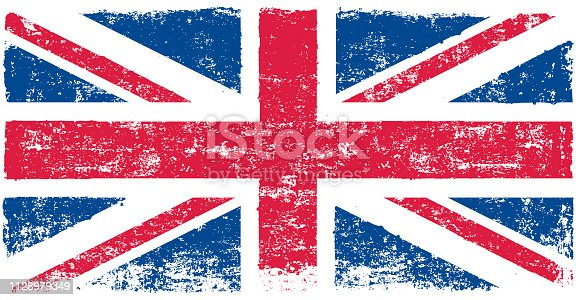 Vector illustration of flag of United Kingdom
