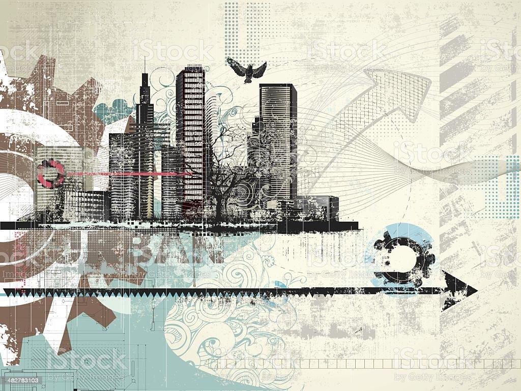 Grunge Urban Background royalty-free stock vector art