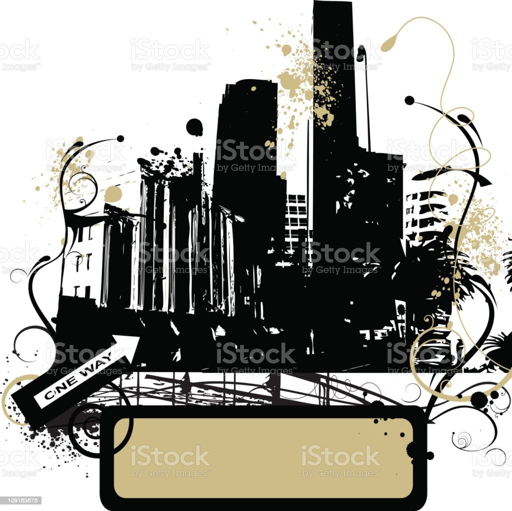 Grunge urban city royalty-free stock vector art