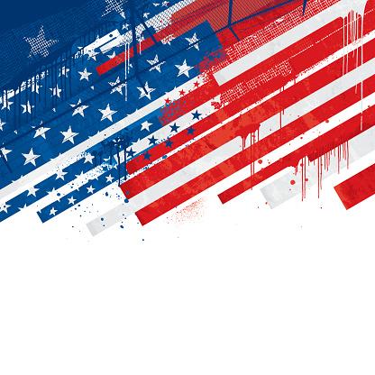 Grunge USA background